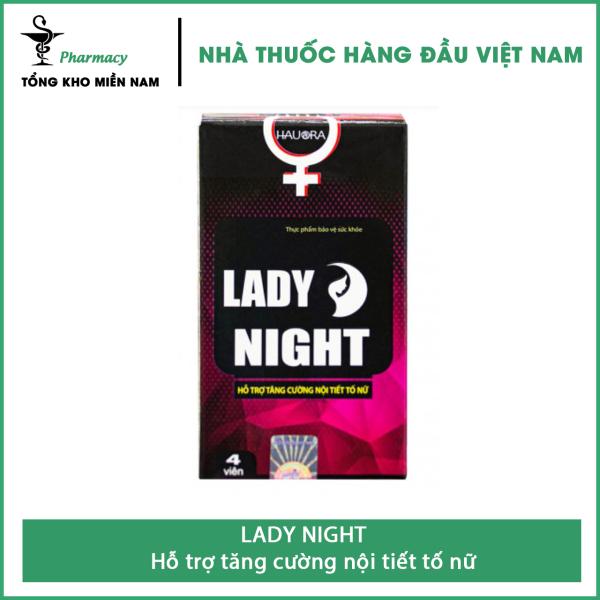 Viên Ngậm LADY NIGHT - hỗ trợ tăng cường nội tiết tố nữ - Hộp 4 viên – Tổng Kho MiềnNam cao cấp