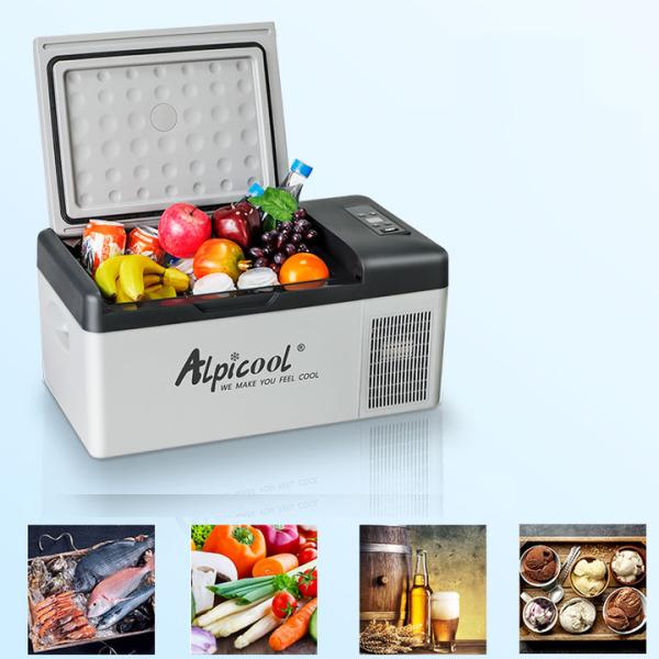 Bảng giá Tủ lạnh mini dùng trong nhà và trên ô tô, xe hơi nhãn hiệu Alpicool C15 công suất 45W Điện máy Pico