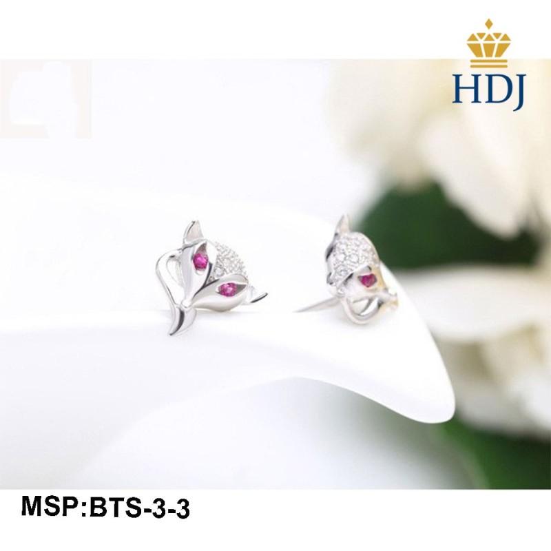 Combo dây chuyền khuyên tai và nhẫn bạc Ý 925 Hình Hồ ly may mắn sang trọng trang sức cao cấp HDJ mã BTS-3-3