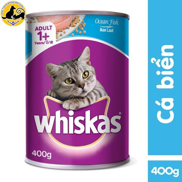 Thức ăn mèo Whiskas vị cá biển lon 400g