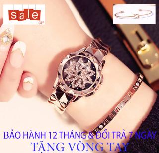 Đồng hồ nữ MASHALI xoay 360 [TẶNG VÒNG TAY] [Liên quan nữ cao cấp - đeo tay nữ đẹp - cặp đôi - dây da - dong ho thuy sy giá rẻ - đồng hồ cơ - vòng tay nữ - thông minh - dây thép - quai thép - quai da - dây lưới - nam châm] thumbnail