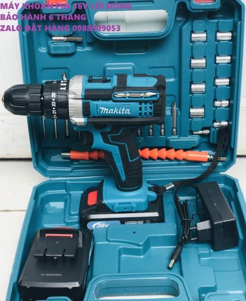 Máy khoan pin có BÚA Makita 36V. (kèm 2pin và nhiều phụ kiện)
