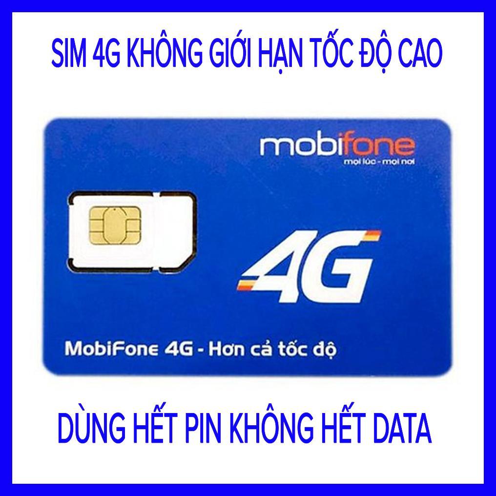 SIM 4G MOBIFONE MAX BĂNG THÔNG (Sim sử dụng toàn quốc, Trừ HCM, BÌNH DƯƠNG, ĐỒNG NAI,)