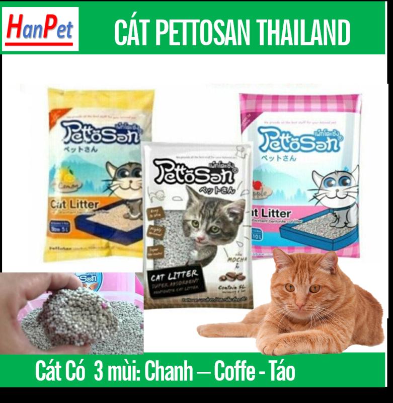 PETTOSAN - Thailand CÁT VỆ SINH CHO MÈO (3 mùi) hạt to không bụi vón cục nhanh