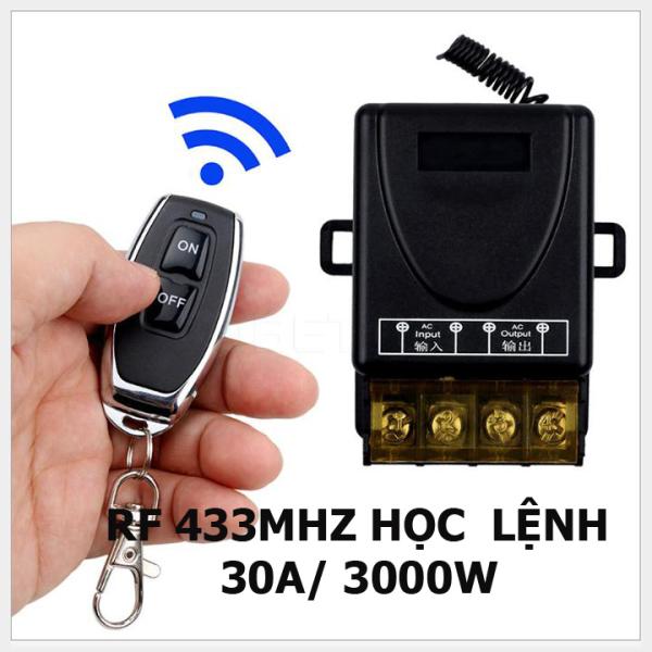 Bộ công tắc điều khiển từ xa 100M xuyên tường công suất lớn 30A (3000W)/ điện áp 220V