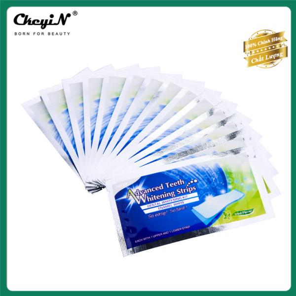 CkeyiN 14 Gói- 28 Miếng dán trắng răng an toàn làm trắng răng khử mùi nhanh chóng hiệu quả chỉ cần 30 phút tại nhà DC019 giá rẻ