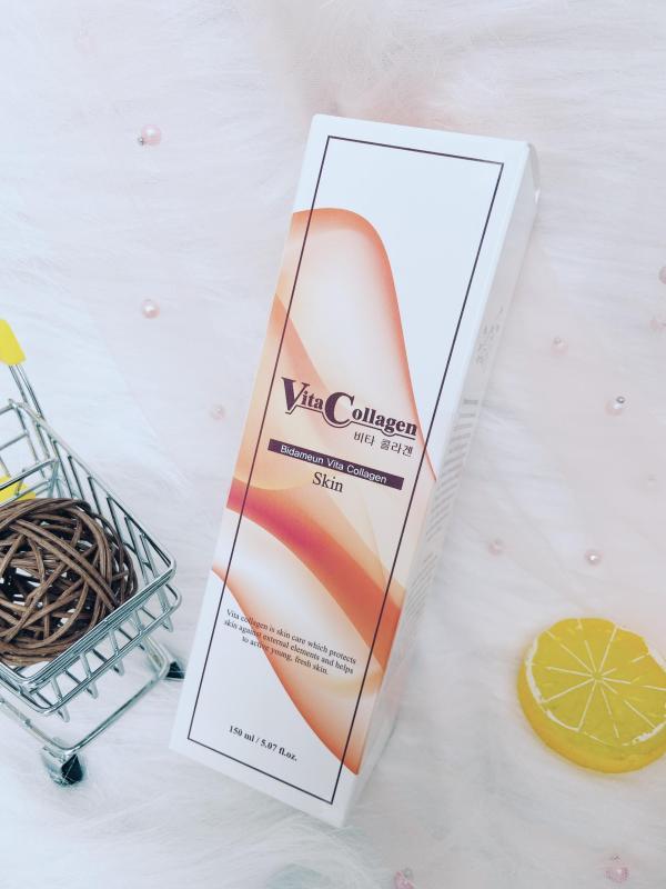 Bidameun - Nước hoa hồng Vita-collagen giúp giảm nhăn & săn chắc da 150ml cao cấp