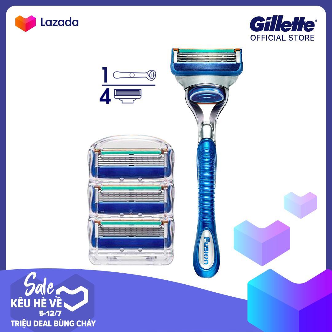 Combo dao cạo râu Gillette Fusion 5 ( 1 cán + 4 lưỡi) tốt nhất