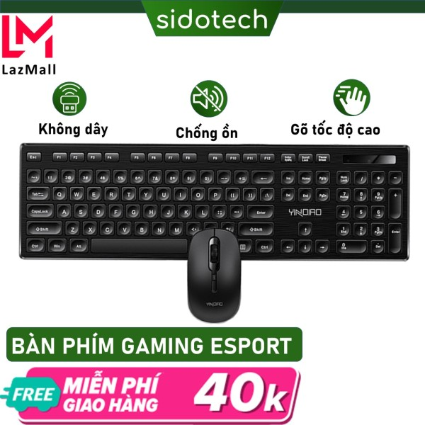 Bảng giá Bộ bàn phím chuột không dây mini wireless Sidotech Max3 chống nước, chống ồn, pin trâu, tốc độ gõ cao và ổn định combo chuột và bàn phím văn phòng không dây cho máy tính laptop, bàn phím văn phòng và chuột văn phòng giá rẻ chính hãng