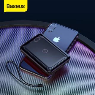 Pin sạc dự phòng Baseus 10000mAh Mini Wireless Charger -Tích hợp Quick Charging cho iphone 11 Pro Samsung Note 10 plus - QC3.0 PD - USB Type C 18W Fast Charging thumbnail