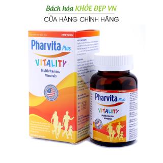 Vitamin tổng hợp Pharvita Plus bồi bổ cơ thể, tăng cường sức đề kháng, giảm mệt mỏi suy nhược - Chai 30 viên thumbnail