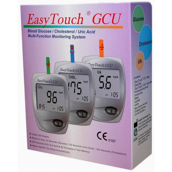 Nơi bán Máy đo 3 in 1 đường huyết,mỡ máu,gout Easy Touch GCU ET322