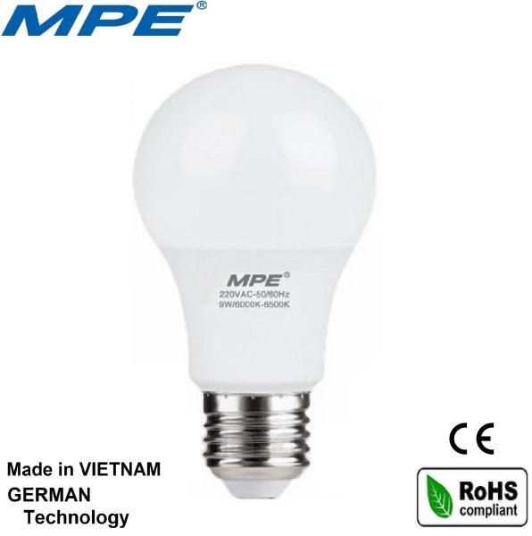 Bảng giá [Nhập ELAPR21 giảm 10% tối đa 200k đơn từ 99k]MPE bóng đèn led tròn 9W đạt chuẩn Châu Âu