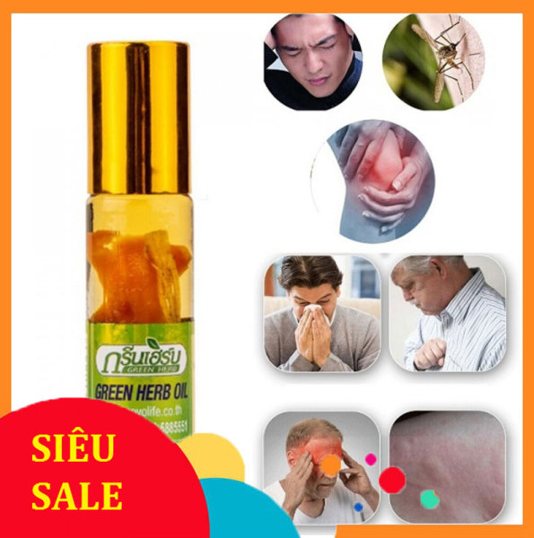 Dầu Lăn Thảo Dược Nhân Sâm Green Herb Oil 8ml Thái Lan cao cấp