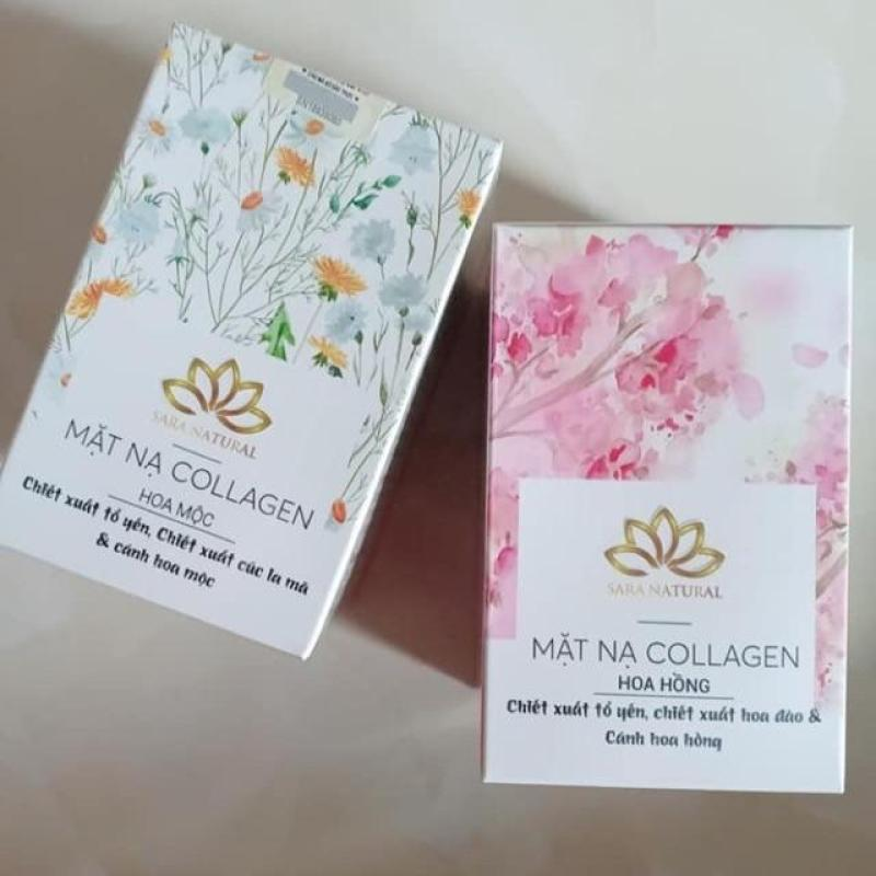 Combo 2 mặt nạ yến collagen Hương Cúc La MÃ - Hoa Anh Đào - Trắng Rạng Ngời [ tặng kèm cọ quét] - Siêu tiết kiệm