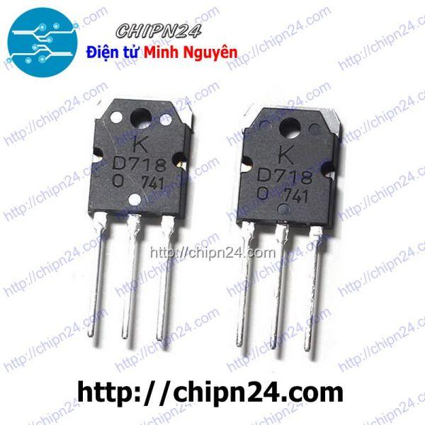 Bảng giá [1 CON] Transistor D718 (chữ K) TO-264 NPN 8A 120V (2SD718 718)