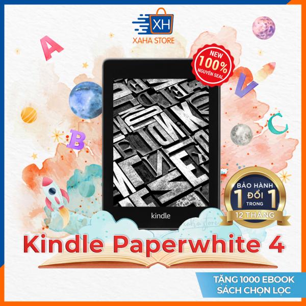 Máy đọc sách Kindle Paperwhite 4 - Gen 10 - 2019 - tặng túi chống sốc vải nỉ (Kindle Paperwhite 4 E-reader Amazon - Gen 10) - Màn hình 6 inch chống chói lóa - Bảo hành 12 tháng