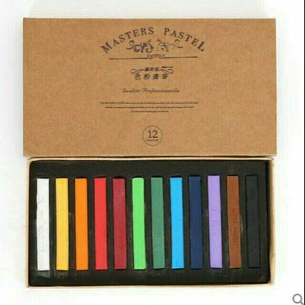 Phấn tiên 12 màu Master pastel   màu nhuộm tóc tạm thời   phấn màu trang trí bảng cao cấp