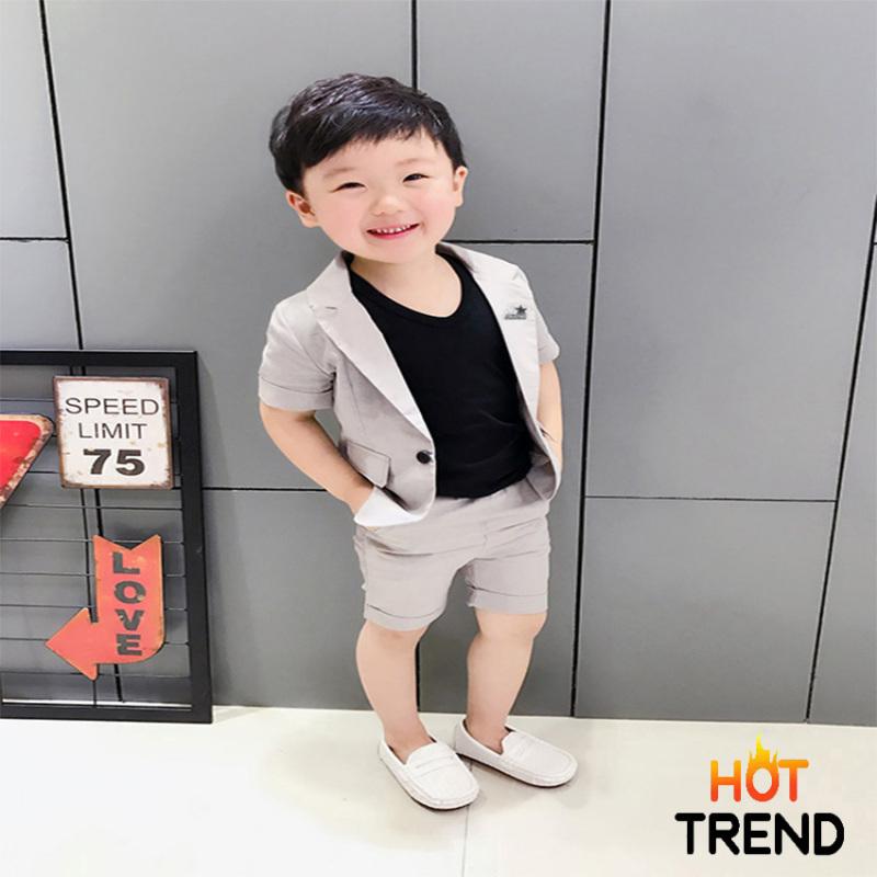 [HOT TREND 2021] Set Vest Bé Trai Sang Chảnh - Cừu Non Baby, Chất liệu Kaki Thun co giãn, Không ra màu, không xù lông, mềm mịn, lưng bo thoải mái - TẶNG Áo Thun sát nách trị giá 69k