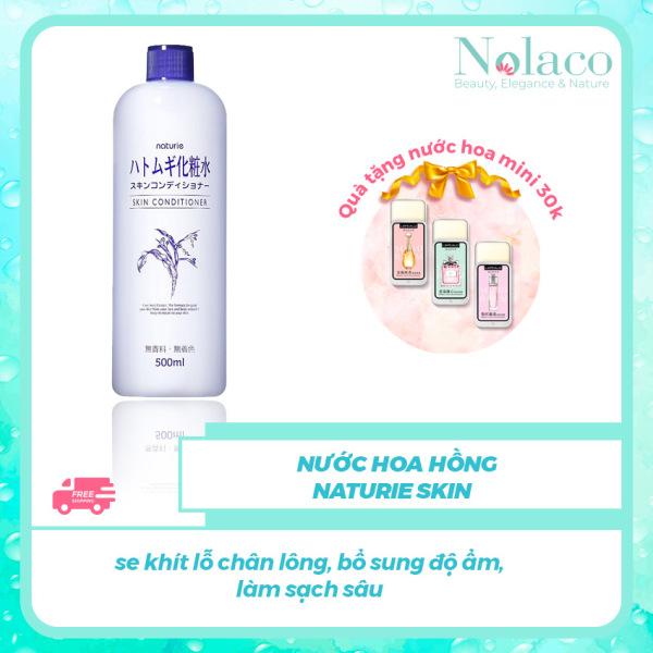 Nước hoa hồng Naturie skin + Tặng kèm nước hoa khô mini 30k + Se khít lỗ chân lông, bổ sung độ ẩm, làm sạch sâu + Nước hoa hồng cho da dầu, Nhật Bản + NOLACO