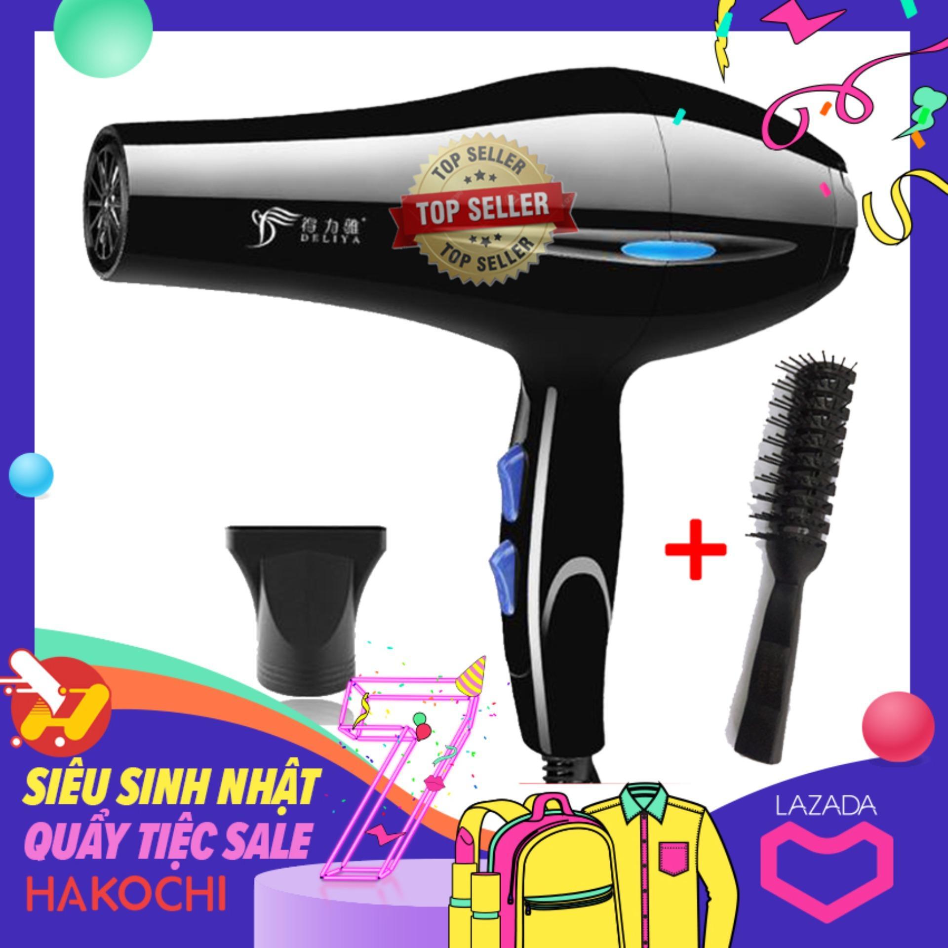 [HÀNG LOẠI 1-GIẢM 30% DUY NHẤT HÔM NAY] Máy sấy tóc nóng lạnh DELIYA - máy sấy tóc, máy sấy tóc mini, máy sấy tóc panasonic, máy sấy tóc tạo kiểu, máy sấy tóc lạnh + Tặng lược Tạo kiểu tóc - [HAKOCHI]