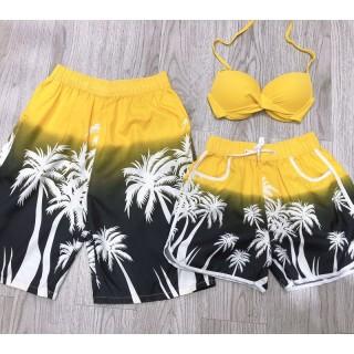 Cặp quần đôi đẹp kèm áo mặc đi biển đi bơi hot ( như hình) thumbnail