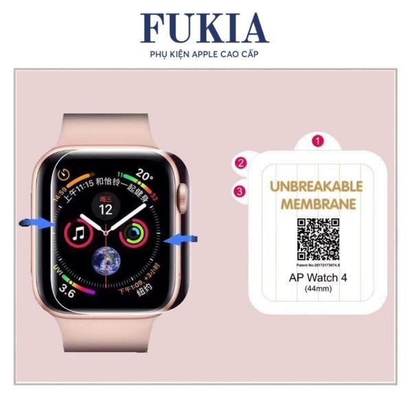 Miếng dán dẻo skin PPF tự phục hồi trầy xước cho Apple Watch Series 1/2/3/4/5/6/SE size 38 40 42 44mm