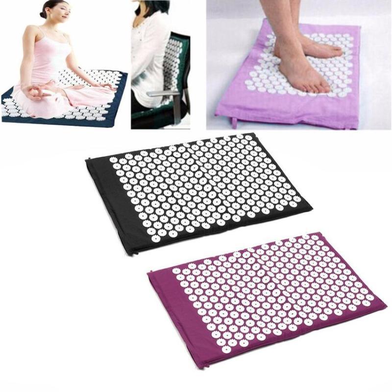 Thảm châm cứu massage Yoga giảm đau lưng, căng thẳng, cứng khớp, mất ngủ, mệt mỏi , Thảm Tập Yoga Mat Xa Mat - Kim Châm Cứu Massage