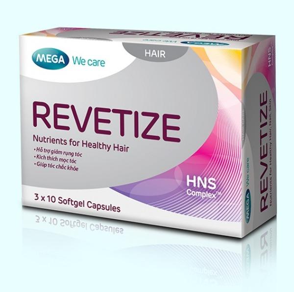 [CHÍNH HÃNG] REVETIZE - Hỗ trợ mọc tóc nhanh, giảm rụng tóc (Hộp 3 vỉ x 10 viên) giá rẻ
