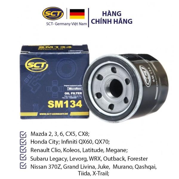 Lọc Nhớt Mazda 2, 3, 6, CX5, CX8; Honda City, Infiniti QX60, QX70; Nissan 370Z SCT-GERMANY SM 134 [Chính Hãng]