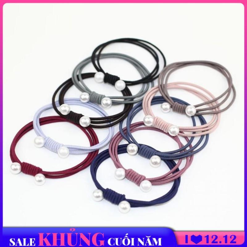 10 Dây cột tóc ngọc trai kiểu Hàn Quốc cho mái tóc đẹp mỗi ngày dây buộc tóc thun buộc tóc XP-DCT01 cao cấp