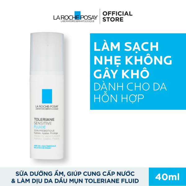 Sữa dưỡng giúp làm dịu tức thì & bảo vệ cho da quá nhạy cảm La Roche-Posay Toleriane Sensitive Fluide 40ml