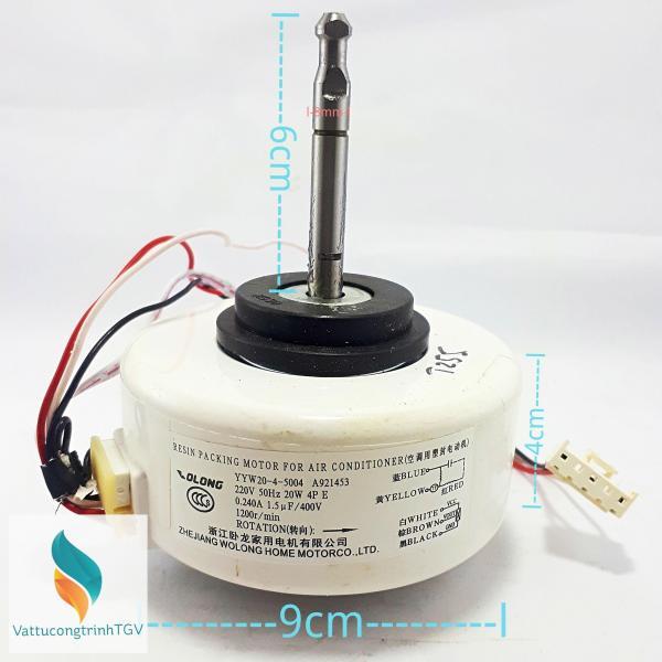 Motor quạt màn lạnh 6 dây 220V-20W thay thế cho điều hòa PANASONIC-FUNIKI