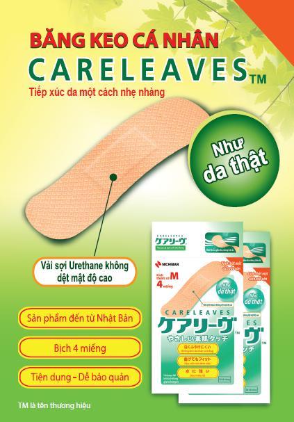 Băng cá nhân Nichiban Careleaves (hộp 40 miếng)