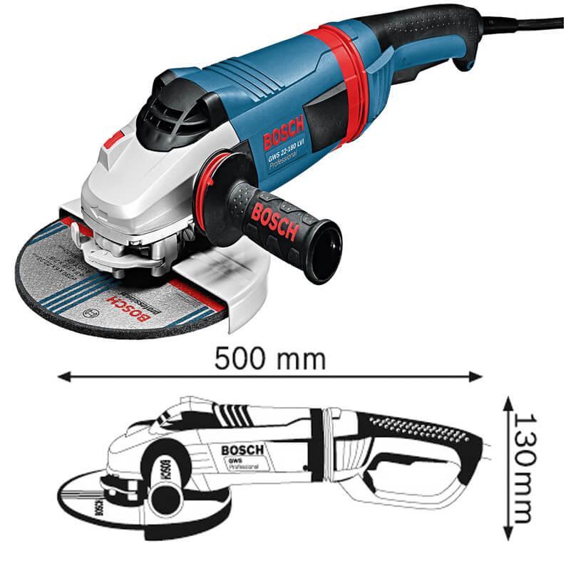 Máy mài góc 2.200W Bosch GWS 22-180 LVI