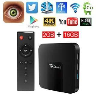 Android TV Box TX3 Mini 2G RAM 16G ROM Có Cổng Quang TẶNG KÈM CHUỘT