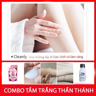 Combo muối tắm trắng Thái Lan và sữa ủ non con bò kích trắng thần thánh cho làn da đẹp tự tin quyến rũ và tẩy tế bào chết B orial Korea thumbnail