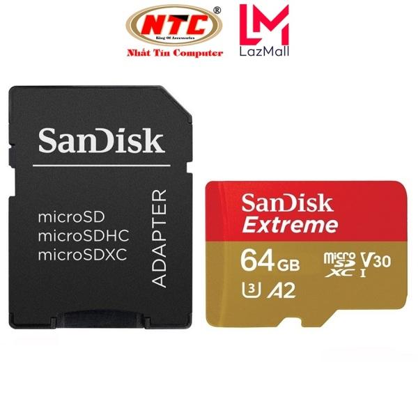 Thẻ Nhớ MicroSDXC SanDisk Extreme 64GB / 128GB V30 U3 4K A2 R170MB/s W90MB/s (Vàng) - No Box - Nhat Tin Certified Store