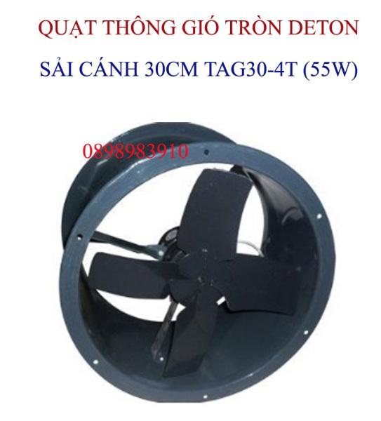 Quạt thông gió tròn cánh sắt DETON TAG30-4T