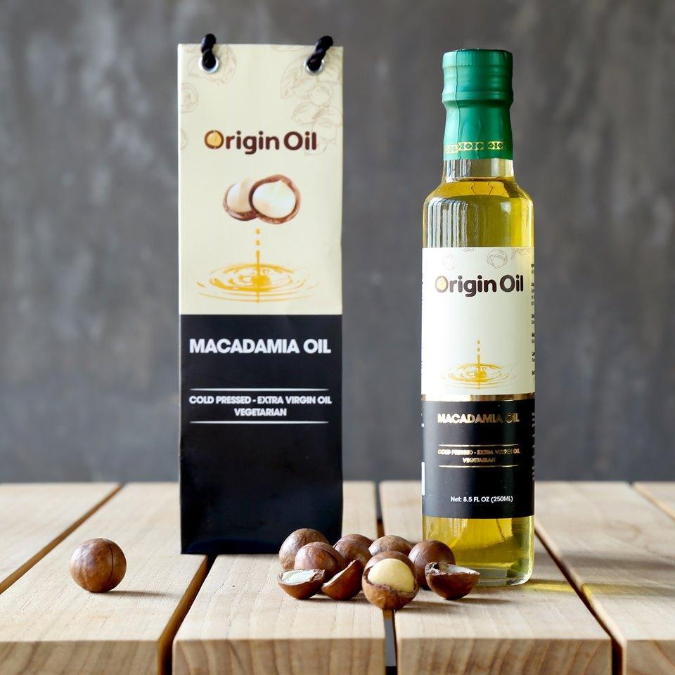 Dầu hạt mắc ca (Macadamia) Nhập khẩu từ Mỹ dùng nấu ăn, làm đẹp chính hãng