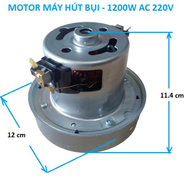 Motor động cơ máy hút bụi lắp cho máy công suất 1200w đến 1800w 220V