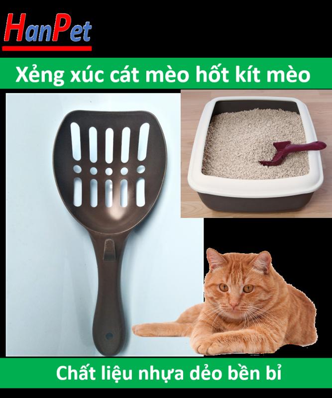 HN-SP440 -  Hót phân mèo (hanpet 4711519) xẻng nhựa xúc cát vệ sinh mèo