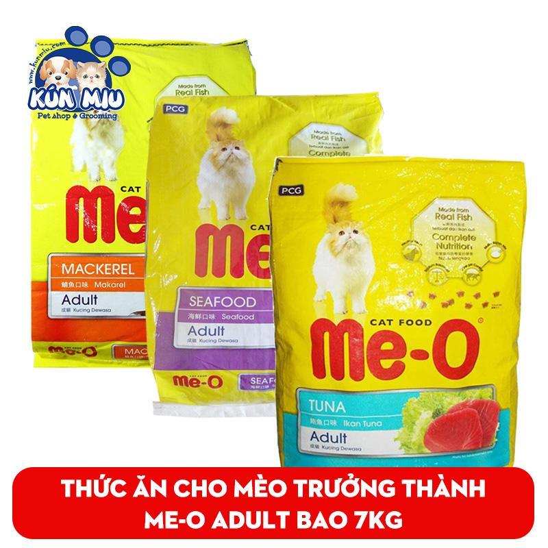 Thức ăn cho mèo lớn đã trưởng thành trên 1 tuổi Me-O Adult 7kg (20 gói 350gr) vị cá ngừ,...