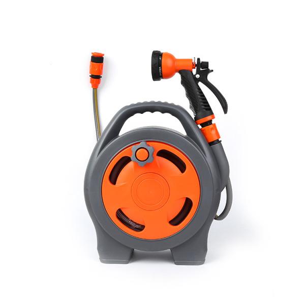 Bộ cuộn ống tưới, Bộ khung lô cuốn dây tưới RULO, 15m dây + đầu phun kèm vòi tưới 6 trong 1 có chức năng điều chỉnh tia nước là sự lựa chon tuyệt vời cho bạn, bạn có thể rửa xe, xịt rửa sân vườn, tưới cây, hoa, Bộ dụ
