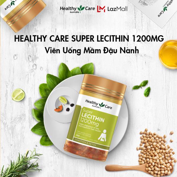 Healthy Care Super Lecithin 1200mg - Mầm đậu nành HealthyCare của Úc 100 viên cao cấp