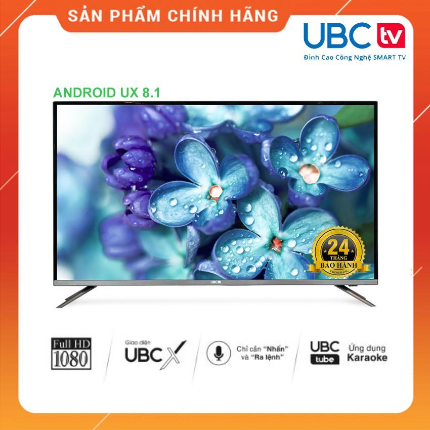 Smart Tivi UBC TV 40 inch Full HD Voice Search - Model 40VS (Đen) Tìm kiếm bằng giọng nói, Tích hợp DVB-T2