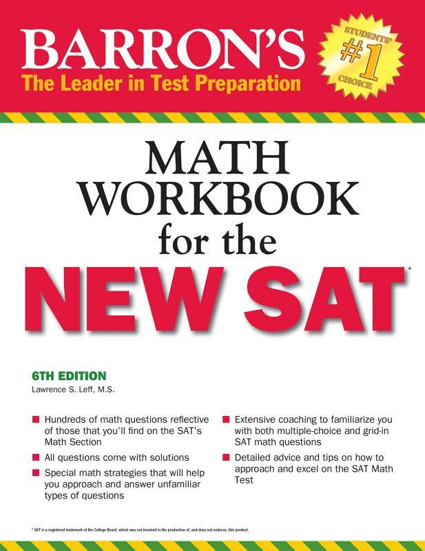 Barrons Math Workbook for the NEW SAT (Barrons Sat Math Workbook)