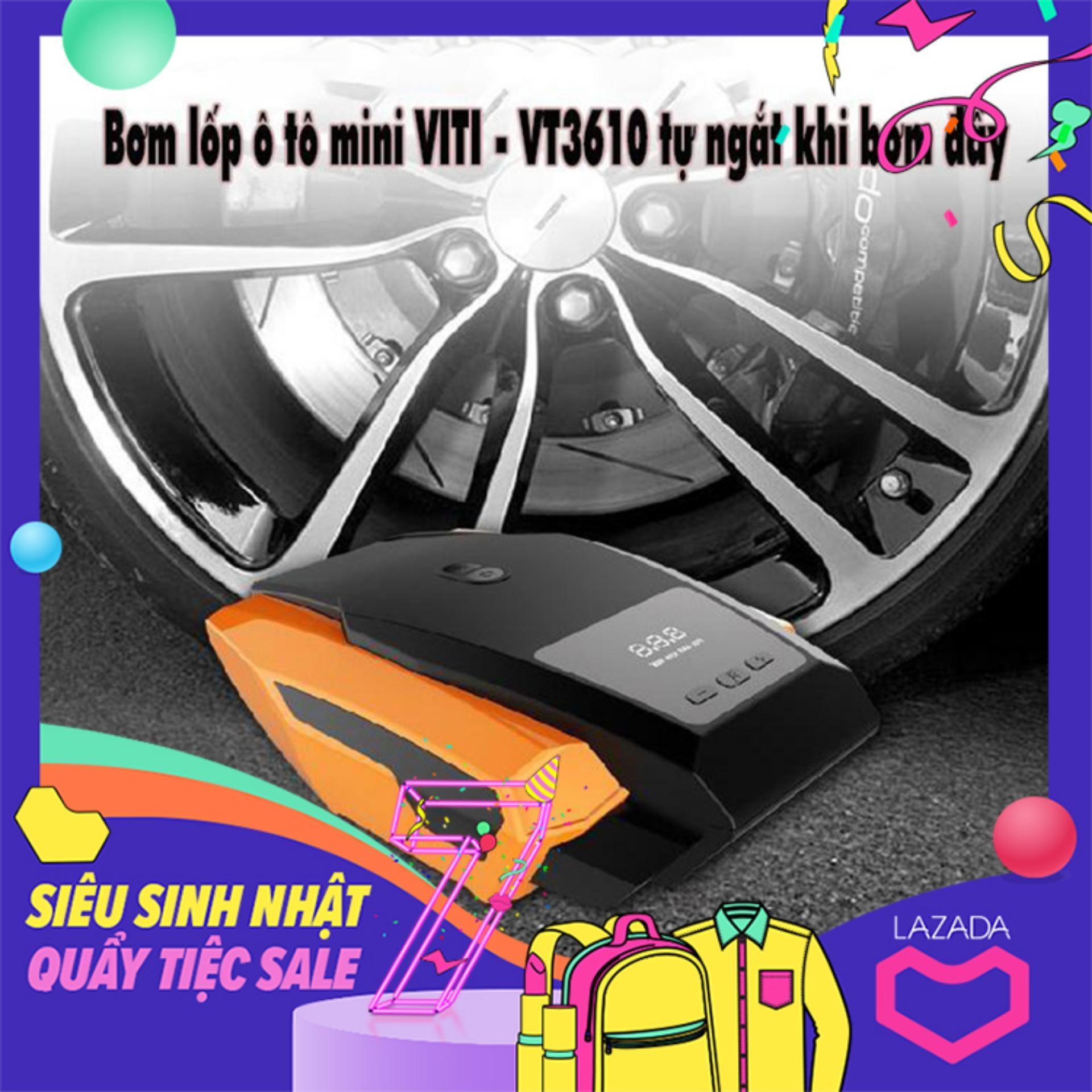 Free.ship Toàn Quốc Bộ Bơm Lốp ô Tô Viti Loại Mini Mã Vt3610 Tự động Ngắt Khi Bơm đầy By Moithu365
