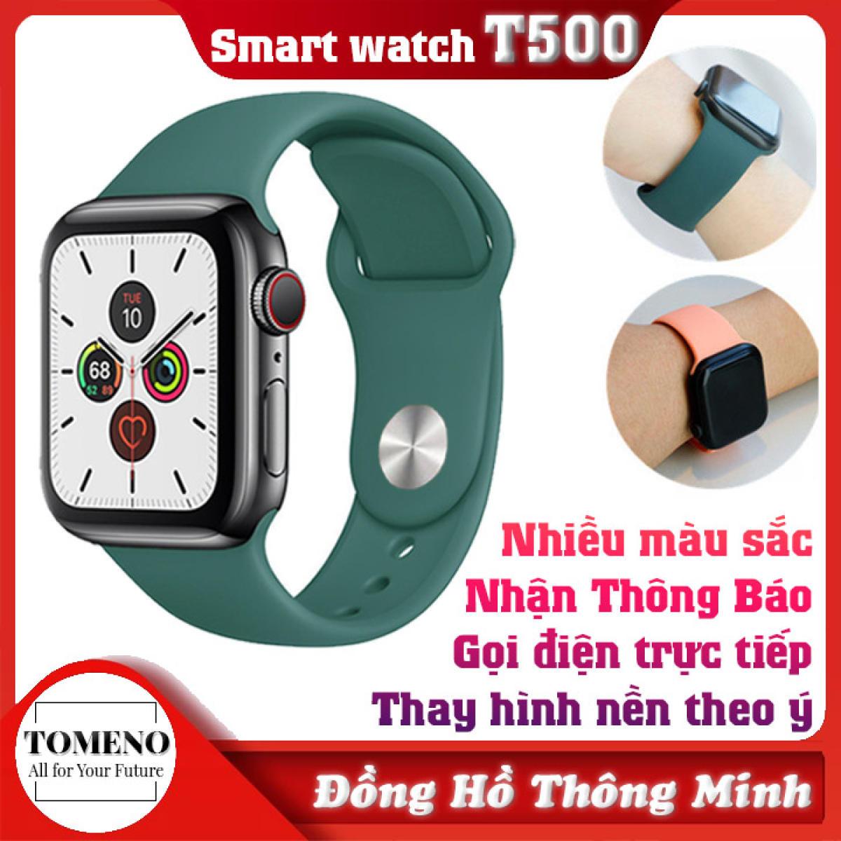 Đồng hồ thông minh T500 - SMART WATCH SERIES 5 T500 - Thay Hình Nền Theo Ý Muốn - Gọi điện nghe nhạc trực tiếp - Thông báo tin nhắn - Giao diện 100% Tiếng Việt - Kết nối dễ dàng - Đồng hồ nữ - Đồng hồ nam