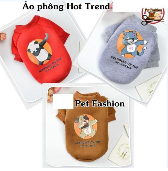 ÁO CHÓ MÈO THÚ CƯNG NỈ hot trend CÓ TAY ĐƯỢC CHỌN MÀU